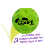 Wuff Ball | Green - Dog Ball With Special Bounce Sound
