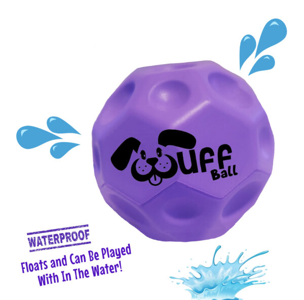 Wuff Ball | Purple - Waterproof Dog Ball That Floats